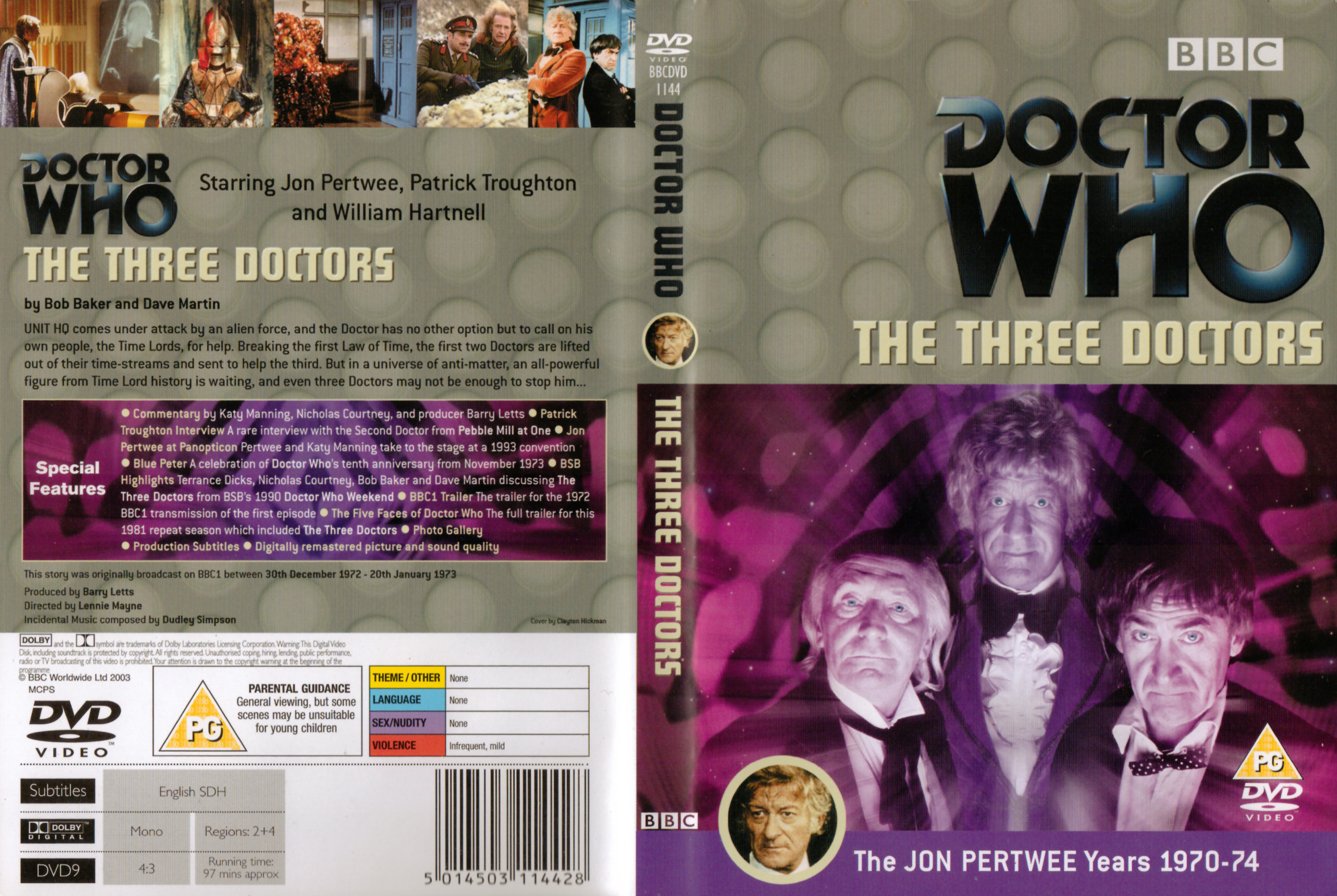 The Three Doctors DVD