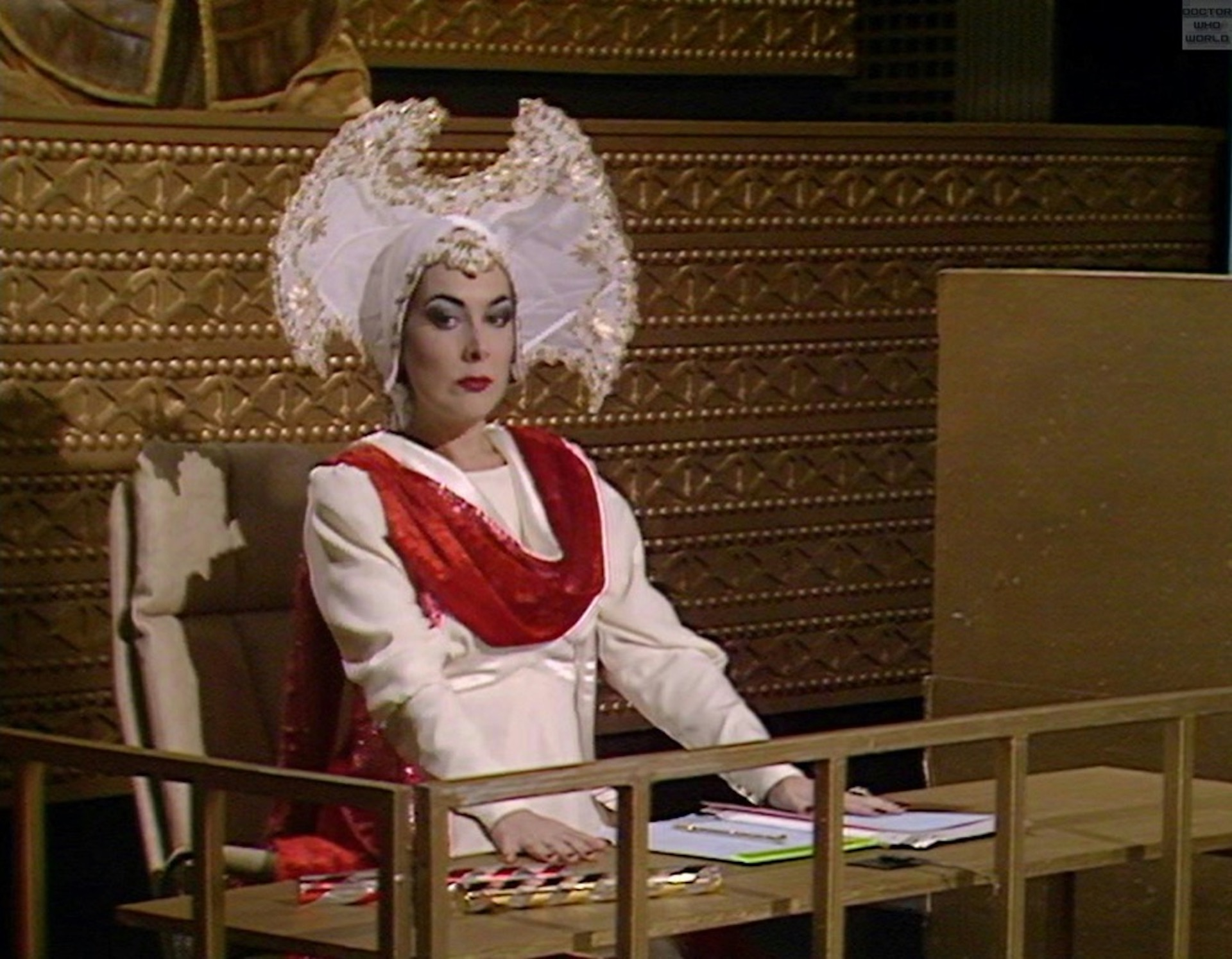 Lynda bellingham as The Inquisitor